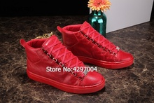 Mens High Top Casual Shoes Men Sneakers 2018 Fashion Man Hip-Hop Shoes red blue Lace-up Flats Male Ankle Boots Plus Size 38-46 цена 2017