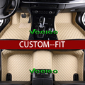 Veeleo+Custom Fit -8 Colors Leather Floor Mats for Ford Mondeo 2007-2012 Waterproof Anti-slip 3D carpet Front & Rear Liner