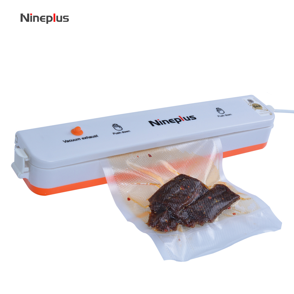 Nineplus Household Best Food Vacuum Sealer Saver Home Automatic Vacuum Sealing Packer Plastic Packing Machine Bags 10 piece free household product plastic dustbin mold makers