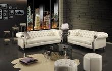 Новинка 2015 Честерфилд диван современной гостиной диван # sf301 2 + 3-seater реального натуральная кожа диван коровы высшего класса с Crystal Button
