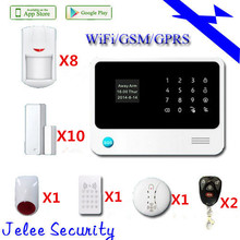 Descuento grande 433 Mhz Sistema de Alarma Sistema de Alarma GSM Casa de Seguridad Inalámbrica Wifi App de control que puede compatible con IP cámara