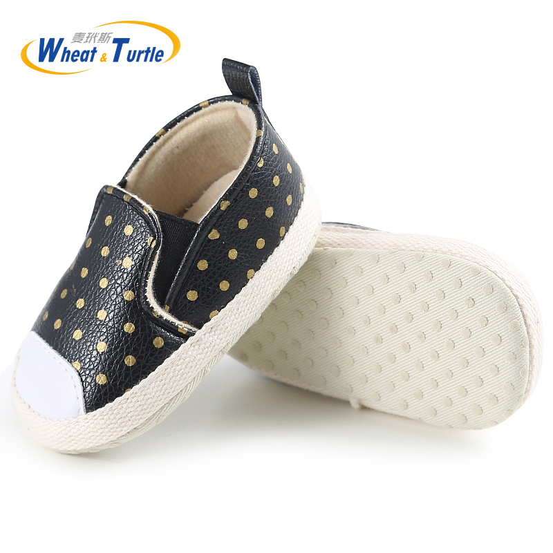 Mother Kids Baby Shoes First Walkers Infant Newborn Baby Girls Polka Dots Spring Autumn Slip On First Walkers Sneakers Shoes