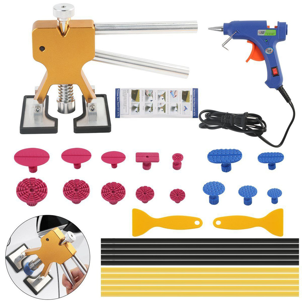 Car Body Paintless Dent Repair Pro Autos Dent Lifter Tabs DIY Removal Tools Kit