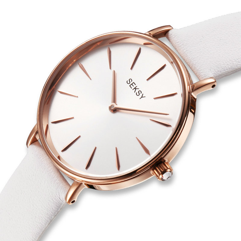 26cddee229a3 New SEKSY White Watch Women Simple Style Watches Women s elegant Quartz  Wrist Watch-in Women s Watches from Watches on Aliexpress.com