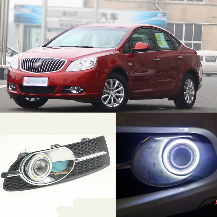 Ownsun Brand New Superb LED COB Angel Eyes+HID Lamp Projector Lens Foglights For Buick Excelle GT 200- brand new superb led cob angel eyes hid lamp projector lens foglights for toyota corolla ex 2013