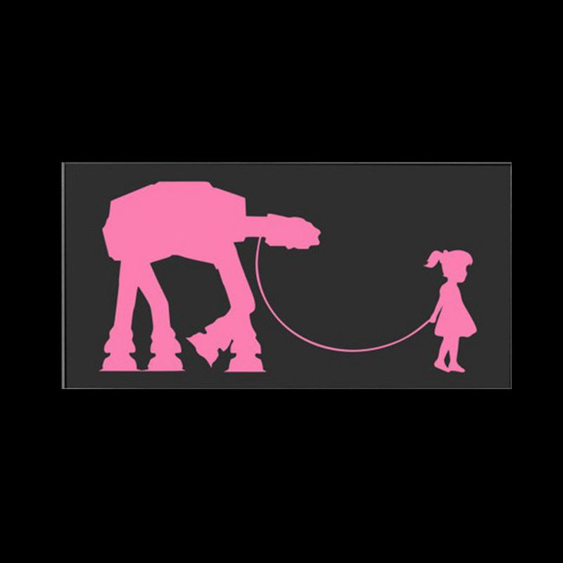 Star Wars Laptop Car Decal Stickers For Girls A Girl And Her At - Car decal sticker girl