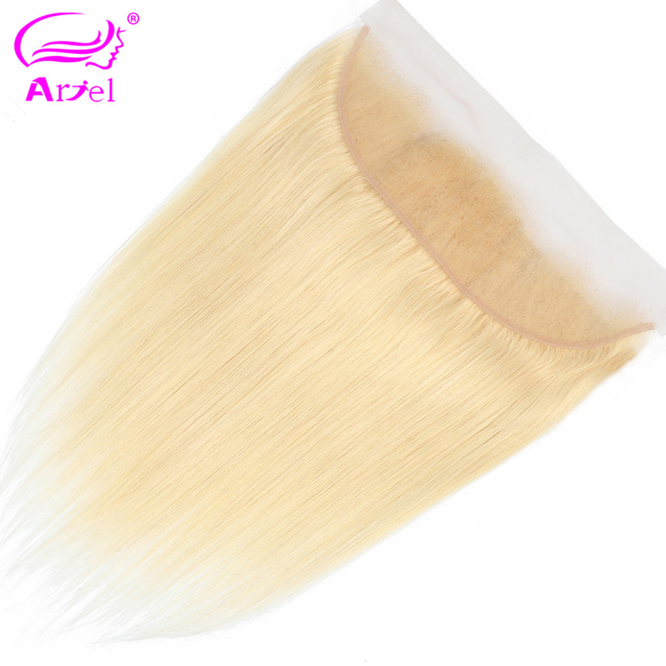 Ariel Three/middle/free-part Malaysian Hair Closure Blonde Lace-Frontal Straight 613