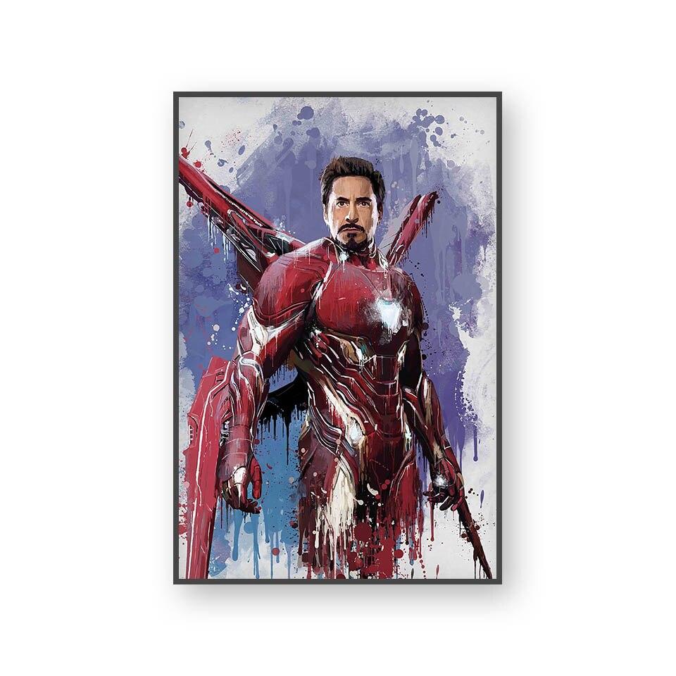Настенный художественный холст с печатью постера, настенные картины для домашнего декора, Марвел, Мстители, фильм супергерой, Дэдпул, Железный Человек-паук, Локи - Цвет: L394J
