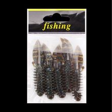 5 Pcs/pack Soft Bait Bubble Mini Shrimp Bionic Stereoscopic Insect Reflective Fake Baits Built-in Sequins Fishing Accessories