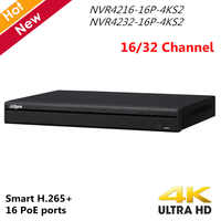 Original Dahua 4K versión en inglés NVR4216-16P-4KS2 NVR4232-16P-4KS2 16ch 32chl 16 puertos de PoE 4K H.265 grabadora de vídeo de red