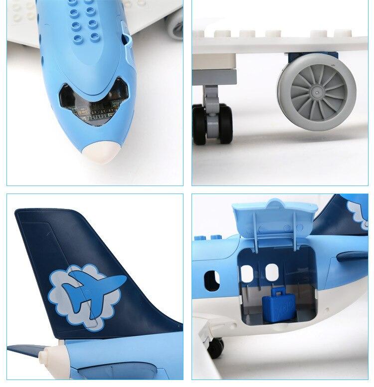 69 stks Kinderen bouwstenen Plastic model kits luchthaven Aerospace gemonteerd model kinderen speelgoed - 3