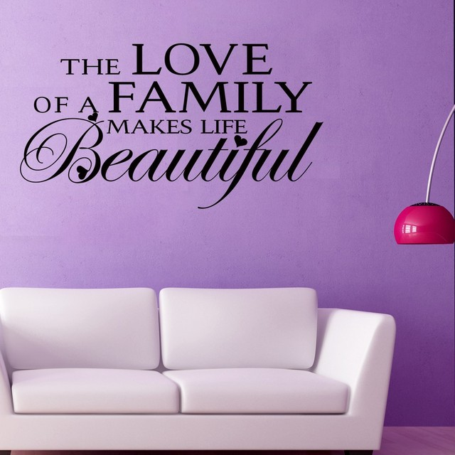 Family Quotes   The Love Of A Family Makes Life Beautiful   Family Love  Quotes Vinyl