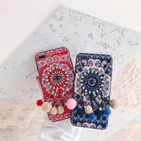Circle Pearl 3D Sexy Lace Soft Silicone Mobile Phone Housing For IPhone8 8Plus Plastic Protective Shell