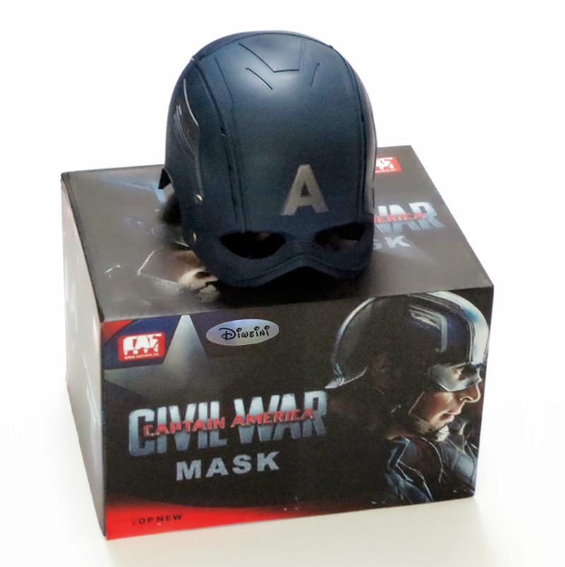 1:1 The Avengers Full Scale Captain America Steve Rogers Helmet Mask 1/1 Replica Custom Cosplay Prop RETAIL BOX WU625 2016 movie cosplay captain america civil war helmet cosplay black panther helmet t challa helmet mask party halloween prop