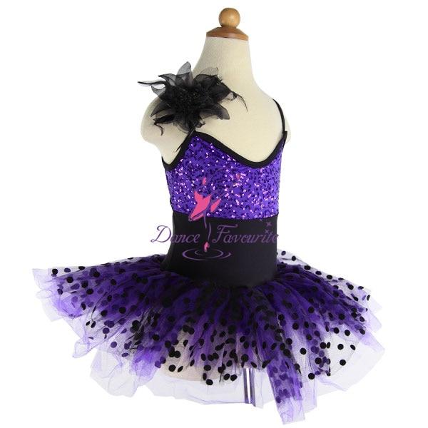 1 pc drop shipping, purple sequin ballet girl dance costume, child stage performance ballet tutu