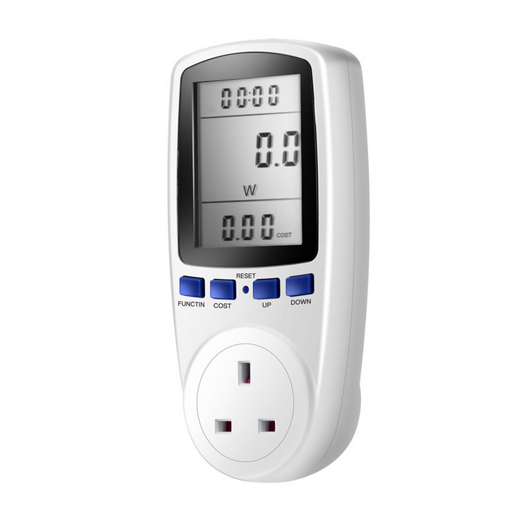 UK Plug <font><b>Electricity</b></font> Power Consumption <font><b>Meter</b></font> Energy Monitor KWH Calculator Usage image
