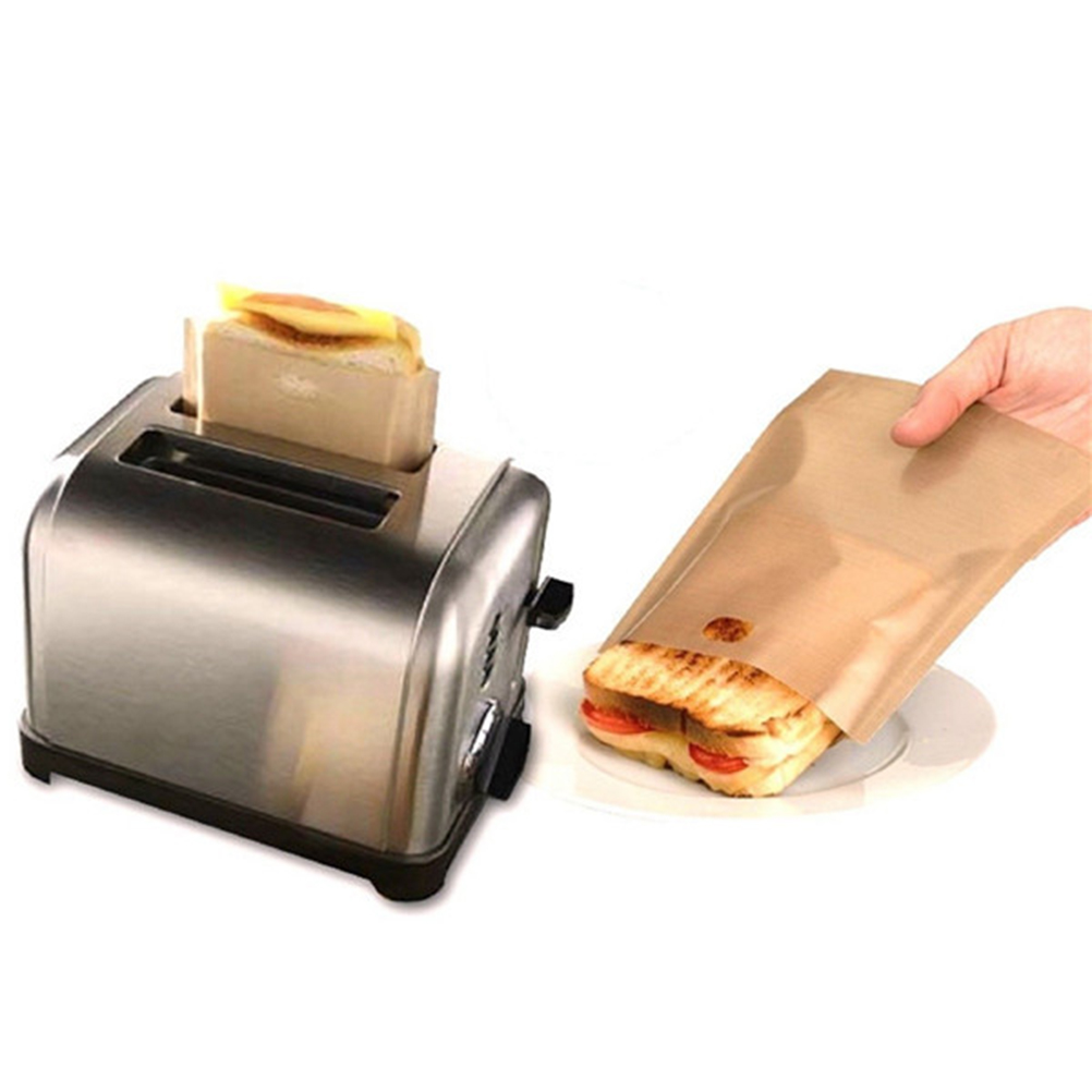 1PC NEW Toaster Bags For Grilled Cheese Sandwiches Made Easy Reusable Non-stick Baked Toast Bread Bags Wholesale image