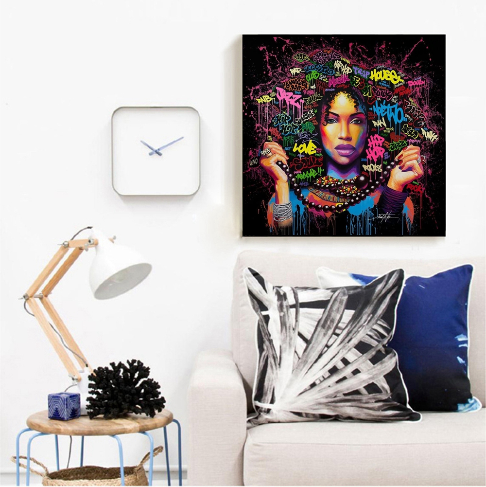 African Girl Printed Canvas Wall Painting 38