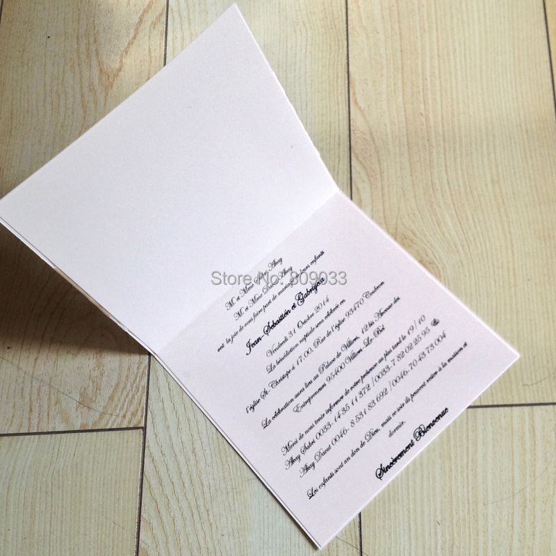 The invitations are made to order. so we can change the colour of the paper  and the ribbon colour for you. e5609f77eb99