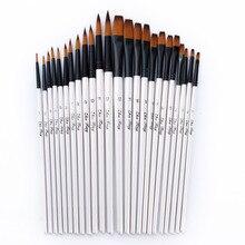 24 шт./компл. нейлоновые волосы деревянной ручкой акварельные краски кисть Набор для обучения масла акриловой живописи кисти Поставки