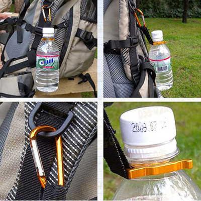 10 pièces multi-couleur aluminium mousqueton bouteille d'eau boucle support de crochet Clip Camping randonnée porte-clés