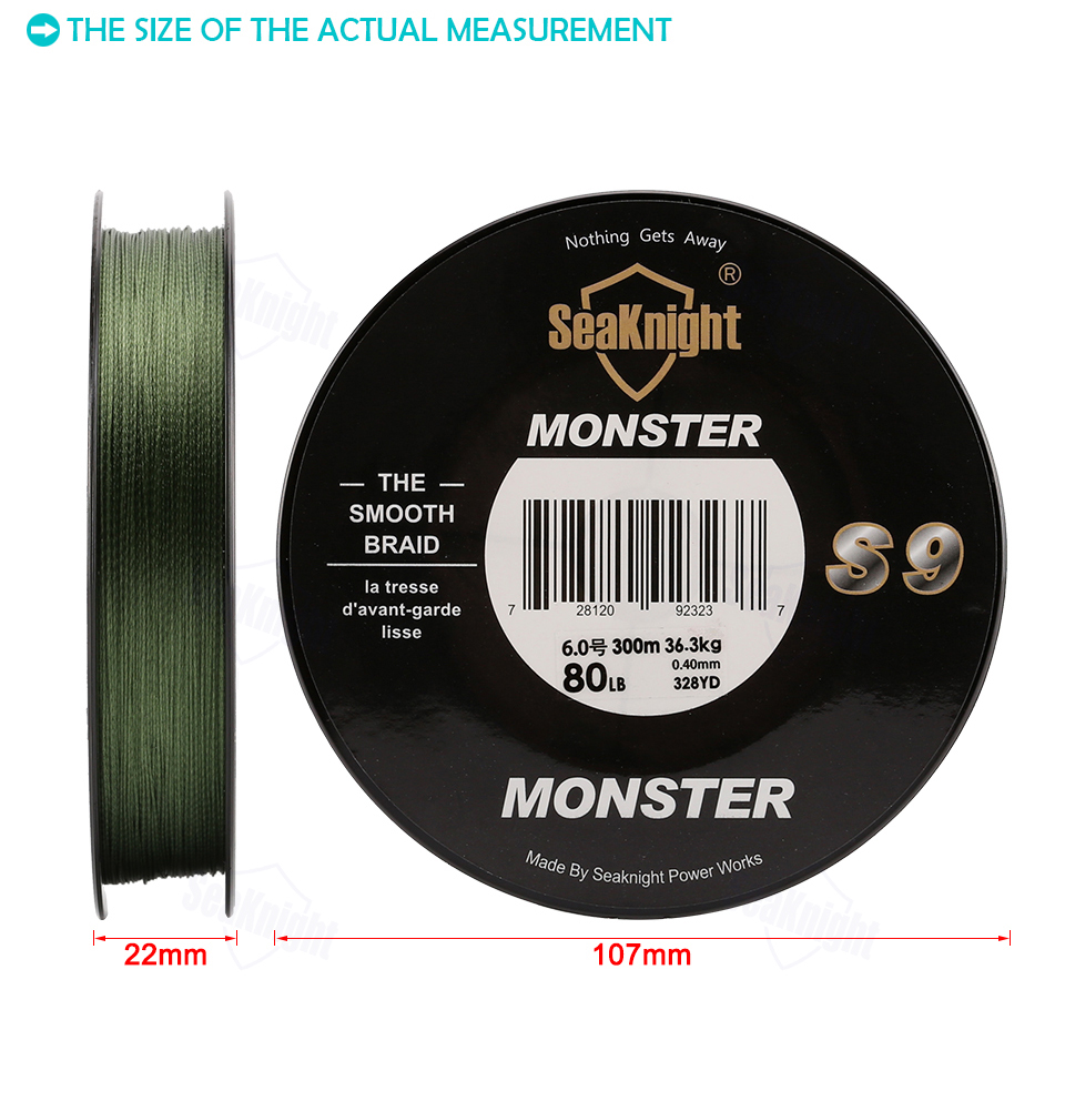 SeaKnight Monster S9 300M PE Fishing Line