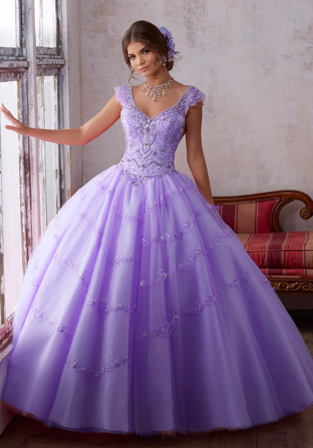 f350b71f884 Sweetheart Aqua Ball Gown Lace Ball Gown Pink Purple Quinceanera Dress 2017  Beaded Organza Sweet 16 Dresses Vestidos De 15-in Quinceanera Dresses from  ...