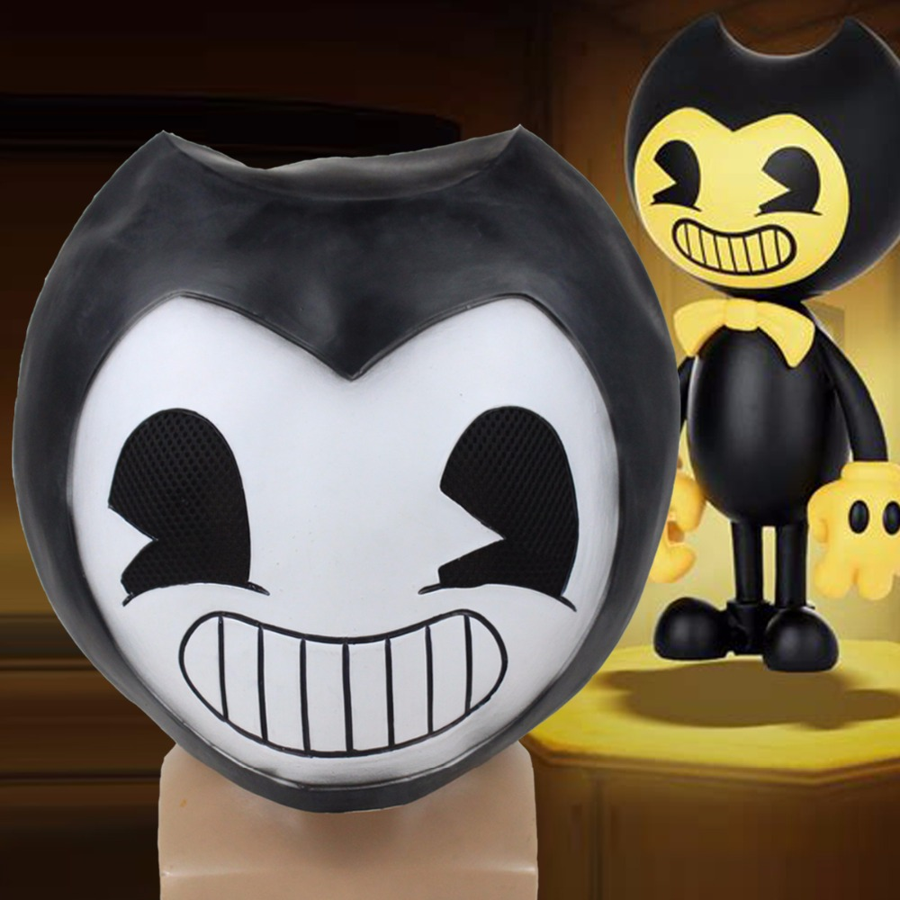 Game Bendy Mask Cosplay Horror Latex Masks Helmet Halloween Party Props DropShipping