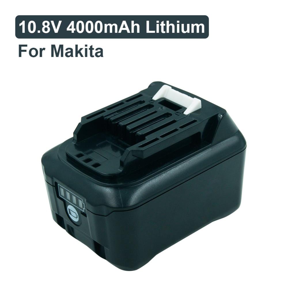 10.8 V 4000 mAh batteries de remplacement rechargeables au Lithium pour Makita CXT BL1040 BL1015 BL1020B DF031D TD110D perceuses sans fil