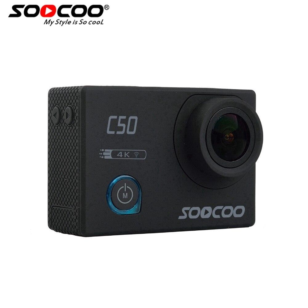 Soocoo C50 acción 4 K deportes Cámara WiFi Gyro ángulos de visión ajustable NTK96660 30 m impermeable deporte DV Cámara de Acción