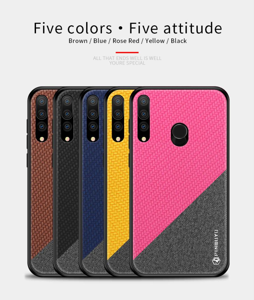 For Huawei Honor 10i 20i 20Lite Enjoy 9S Case Fashion Splice Hybrid Shield TPU Soft Edge Leather Phone Case Protection Cover in Fitted Cases from Cellphones Telecommunications