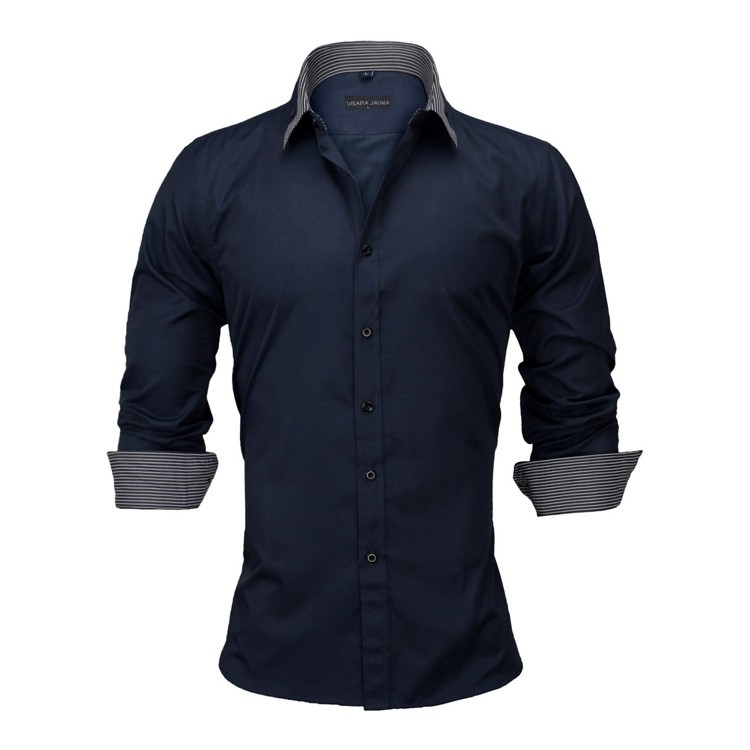 HTB16K77KFXXXXXSXVXXq6xXFXXXQ - New Arrivals Slim Fit Male Shirt Solid Long Sleeve British Style Cotton Men's Shirt N332