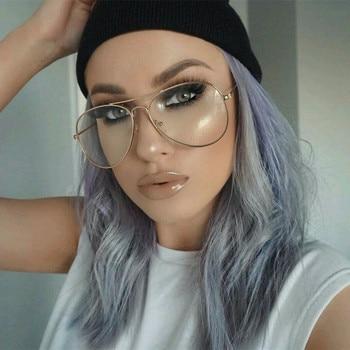 Clear Glasses Retro Eyeglasses Metal Gold Myopia Eyewear Women Men Spectacle Frames Optical Glasses Frame Transparent Lens Чокер