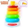 Горячие Продажи АБС-Пластик Укладки Кольцо Обучающие Toys Rainbow Tower Складывается Верстка Для Детей Лучший Подарок Для Новорожденного ребенка