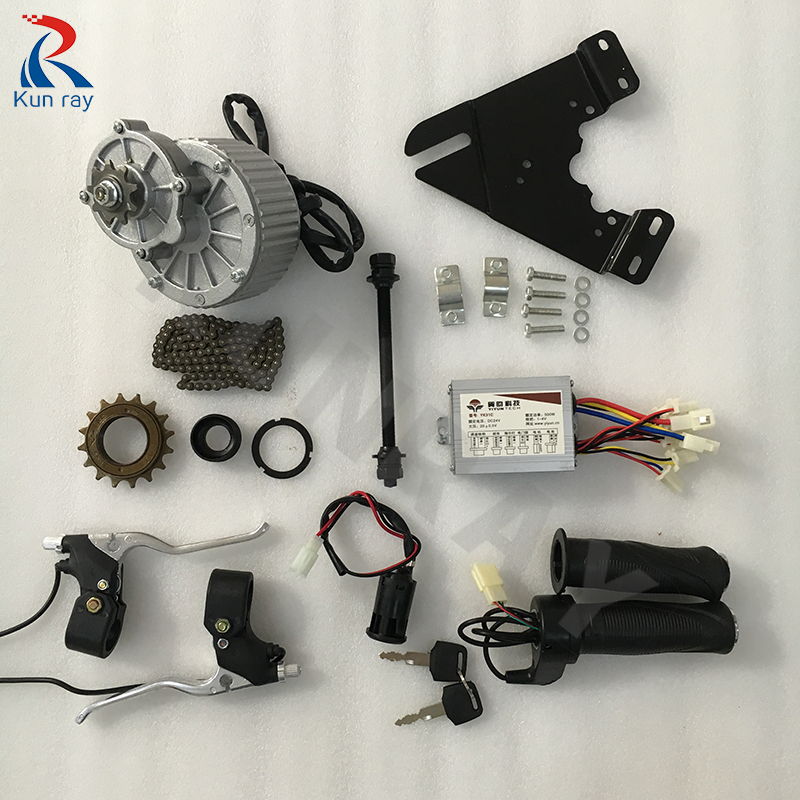 купить Electric bike kit 250W 24V MY1018 DC Brushed Motor Ebike Brushed DC Motor E SCOOTER Motor Electric Bicycle Kits по цене 4950.22 рублей