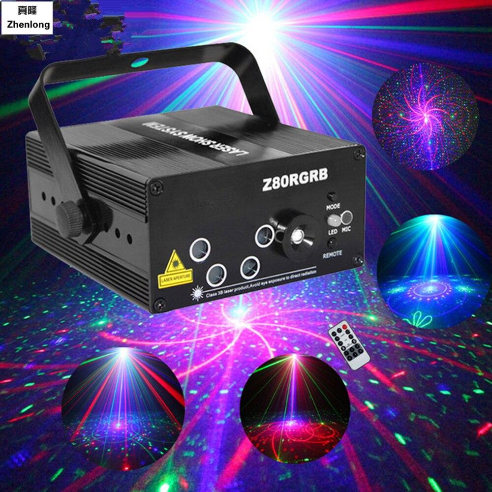 AC110V 220 В 5 объектив 80 моделей проектор свет и музыка для Disco вечерние RGB дискотека лазерное шоу Этап машина прожектор