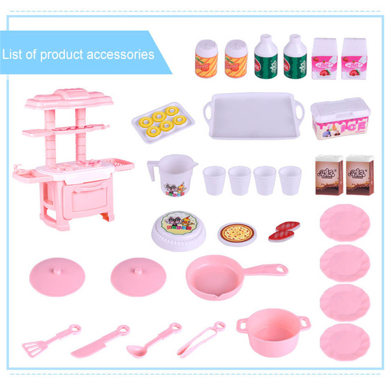 Gifts for the New Year fun toys Children Kids Kitchen Cooking Pretend Role Play Toy Cooker Set Light Sound Gift funny gift