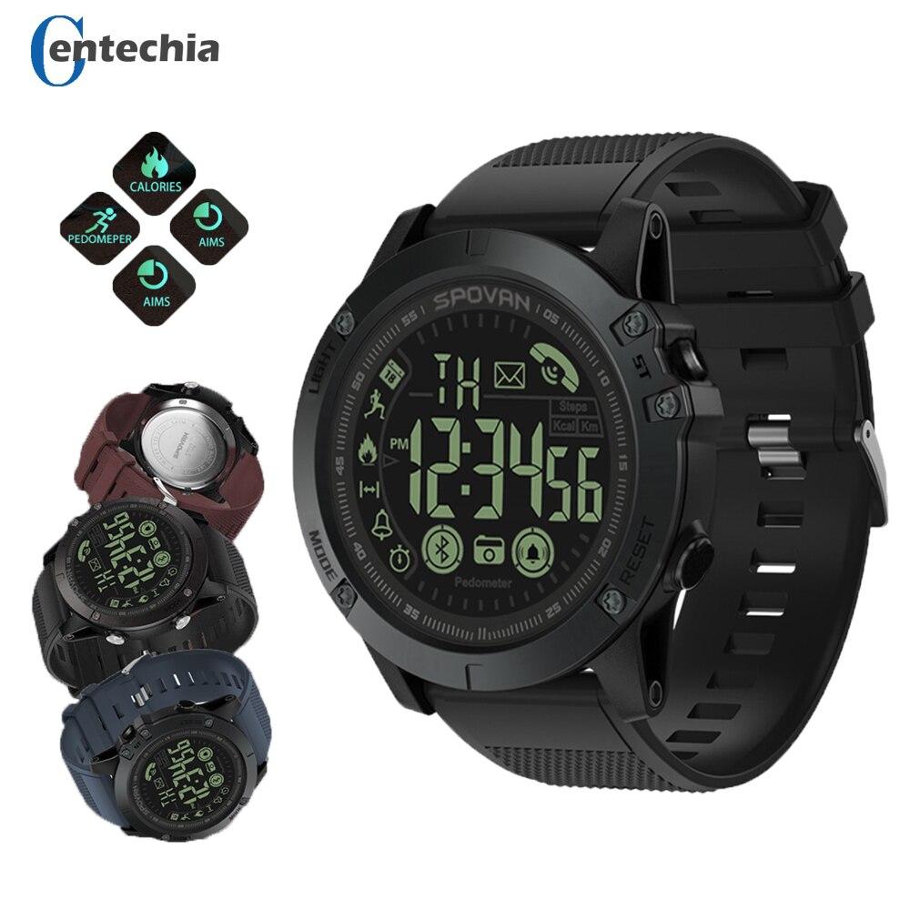 Los hombres Pop inteligente reloj de estilo militar rastreador de Fitness podómetro smartwatch cámara de Control Remoto Super duro relojes inteligentes Pk T1 tacto