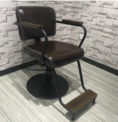 Barber's Chair Barber's Chair Solid Wood Vintage Hair Chair Hair Salon Special Hair Chair
