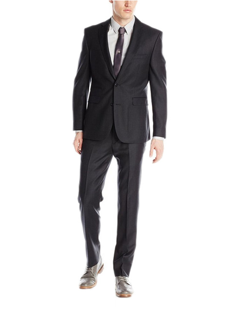 Simple Suits Men Black Wedding Suits Grooms Tuxedos Mens Suits Slim Fit Beach Groomsmen Suits (Jacket+Pant)
