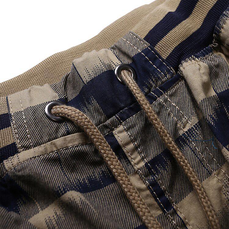 Summer Shorts Men Cotton Breathable Mens Beach Shorts Casual Short Pants Men Plaid Pocket Cargo Shorts Plus Size L 5XL GA362 in Casual Shorts from Men 39 s Clothing