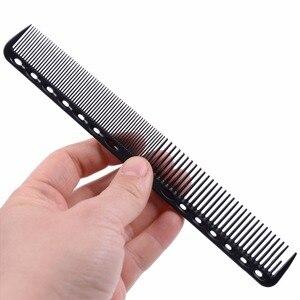 Image 2 - 1 Pc מקצועי שיער קריקט מסרק חום עמיד בינוני חיתוך פחמן מסרק בתמיסת מספרה ברבר סטיילינג מברשת כלי