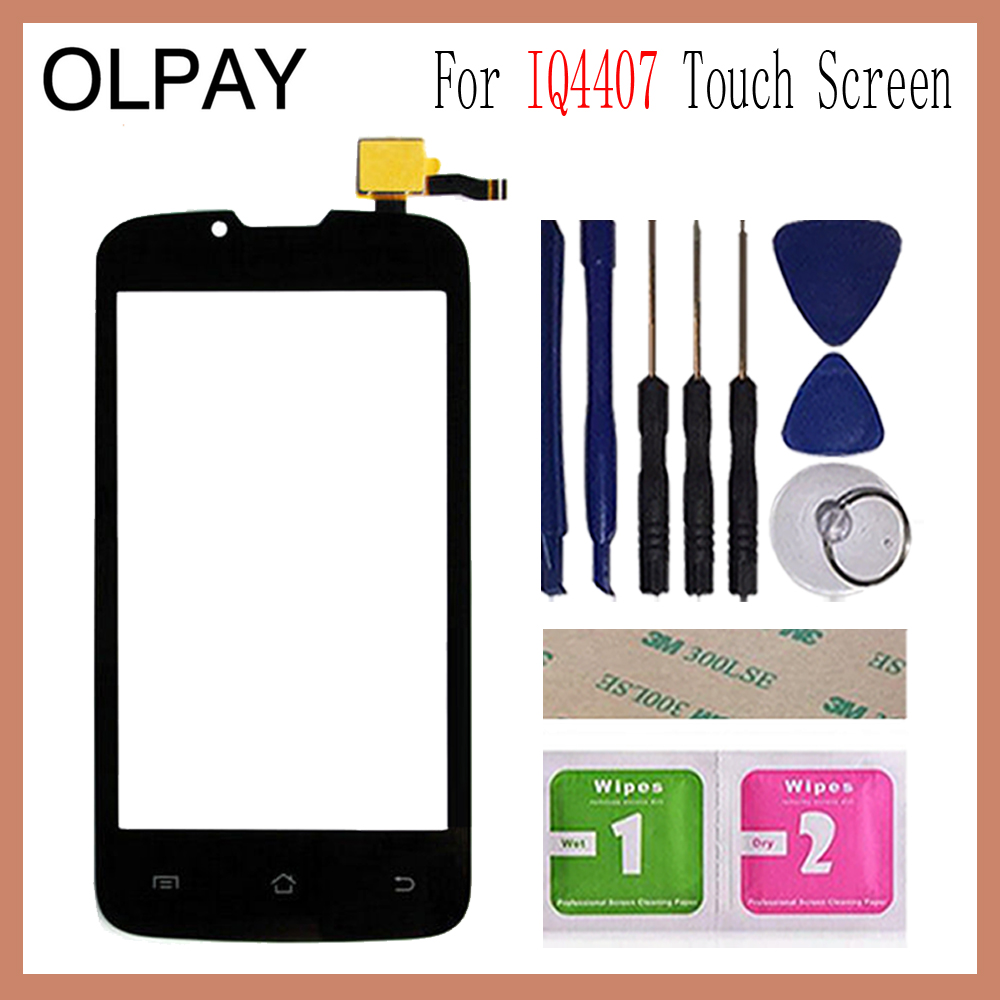 OLPAY 4.0'' For Fly IQ4407 4407 Touch Screen Glass Digitizer Panel Lens Sensor Glass Free Adhesive And Wipes