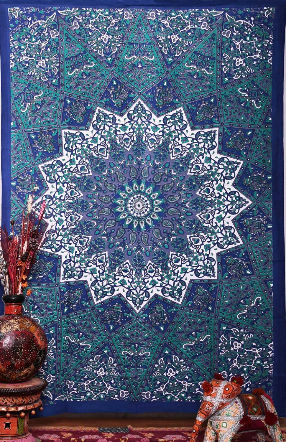 Indian table decorations - 210x148cm Indian Hippie Home Decorative Tapestries Boho Beach Yoga Mat Bedspread Table Cloth Wall Hanging Mandala