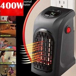 EU US UK Mini Handy Heater Plug-In 400 W เครื่องทำความร้อนเตามืออุ่นโรงแรมห้องครัวห้องน้ำรถเดินทาง 110-220V