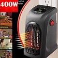 UE EE. UU. UK Mini calentador práctico enchufe 400 W calentador de pared estufa calentador de mano Hotel cocina Bar Baño coche de viaje 110-220V