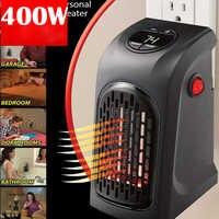 UE US UK Mini calentador eléctrico Plug-In 400 W calentador de pared estufa calentador de manos Hotel cocina Bar baño coche viaje 110-220V