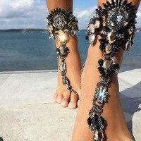 Hot New Fashion 2017 Ankle Bracelet Wedding Barefoot Sandals Beach Foot Jewelry Sexy Pie Leg Chain