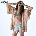 Nuevo 2017 Estilo Coreano de Las Mujeres Blusa Sexy Gasa de La Impresión Floral Kimono Camisas Para Mujer Top Plus Size Beach Encubrimiento Tops 40423