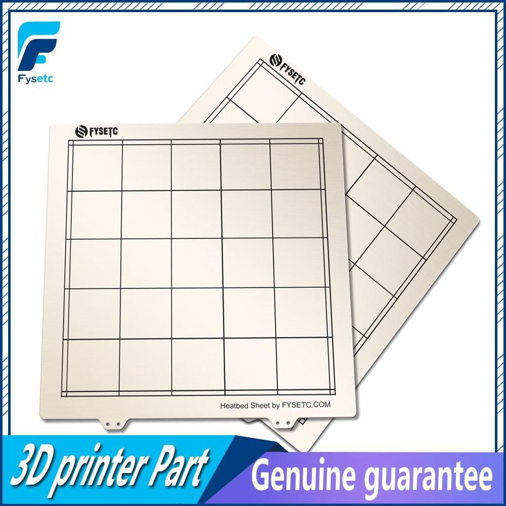 1pc Newest 300 * 300mm Spring Steel Sheet Heat Bed Platform 3D Printer Printing Buildplate For TEVO Tornado Lulzbot Taz6 Printer
